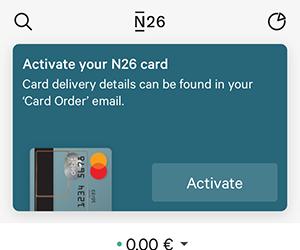 N26, アプリ, アクティベート