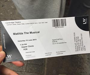 イギリス, ロンドン, ミュージカル, チケット, 買い方, 購入方法, オンライン, ネット, Matilda, マチルダ