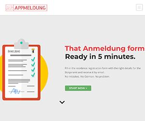 ドイツ, ベルリン, Anmeldung, 住民登録, 書類, 用紙, フォーム, 書き方, 簡単