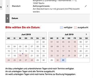 ドイツ, ベルリン, Anmeldung, 住民登録, 予約, 予約方法