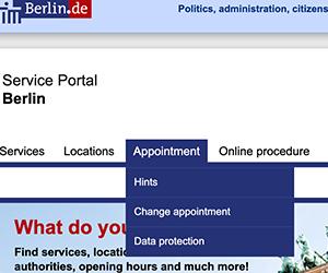 ドイツ, ベルリン, Anmeldung, 住民登録, 予約, キャンセル