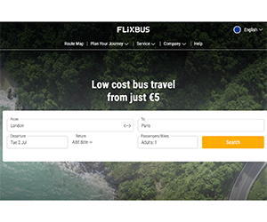 Flixbus, フリックスバス, 乗り方, ロンドン, パリ, 高速バス, チケット, 購入方法