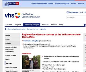 ドイツ, ベルリン, ワーキングホリデー, ワーホリ, 語学学校, VHS, 申し込み